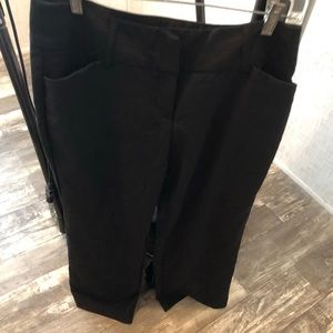 Cato black pocketed bootcut dress pants euc 10